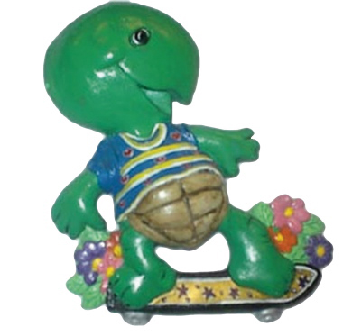 Turtle on Skateboard Plaster Plaque