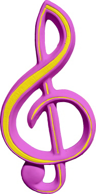 G Clef Music Note Plaster Plaque