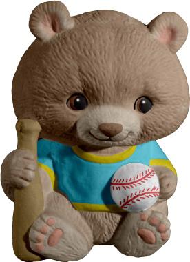 Baseball Critter Plaster Statue