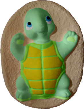 Turtle on oval Base Plaster Plaque