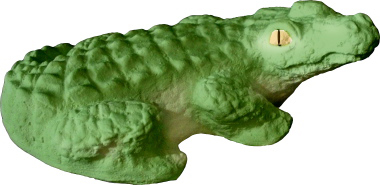 Alligator Plaster Statue Small