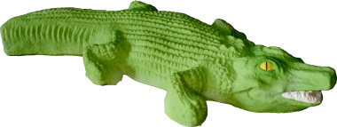 Alligator Flat Plaster Statue
