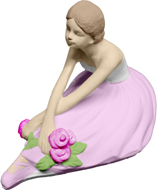 Delicate Ballerina Plaster Statue a