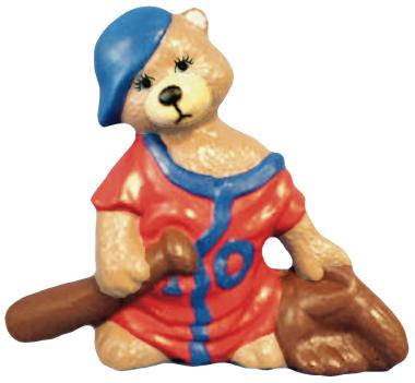 Baseball Bear Plaster Statue