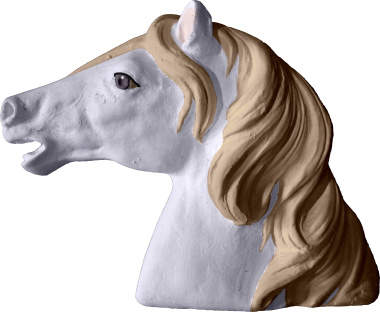 Horse Head Plaster Plaque
