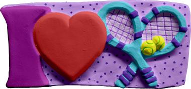 I Love Tennis Plaster Plaque