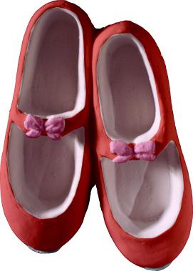 Tap Shoes Plaster Plaque