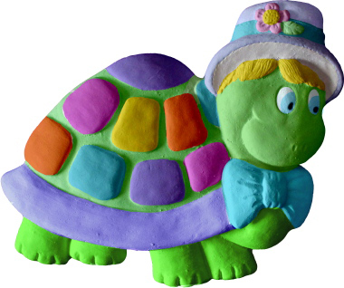 Turtle with hat Plaster Plaque