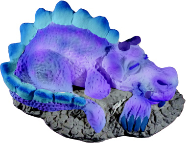 Sleepy Dragon Plaster Statue