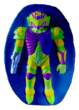 Robo Man Plaster Plaque