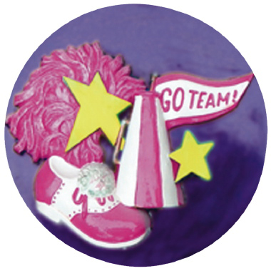 Cheerleader Gear Plaster Plaque