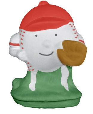 Baseball Running Plaster Statue