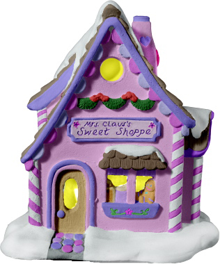 Plaster Christmas Village Houses - PLASTERCRAFT Statues, Busts, Figurines, Columns, Pedestals And
