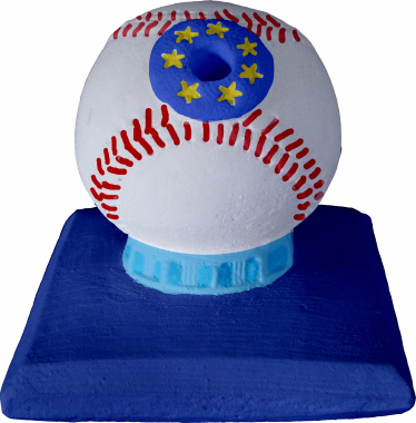 Baseball Plaster Pencil Holder