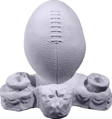 Football Plaster Pencil Holder