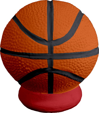Basketball Plaster Pencil Holder