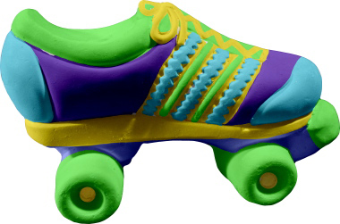 Roller skate Plaster Pencil Holder