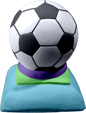 Soccer Ball Plaster Pencil Holder