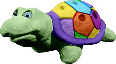 Turtle Plaster Pencil Holder