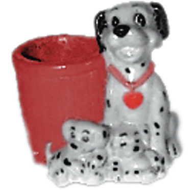 Dalmatian Family Plaster Pencil Holder