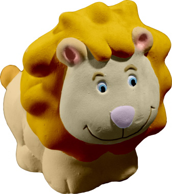 Leo the Lion Plaster Pencil Holder
