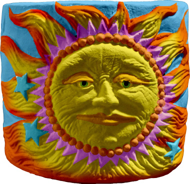 Sun Plaster Pencil Holder
