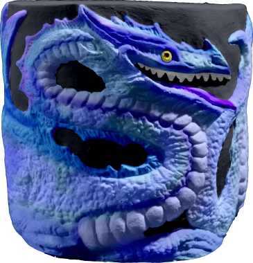 Dragon Plaster Pencil Holder