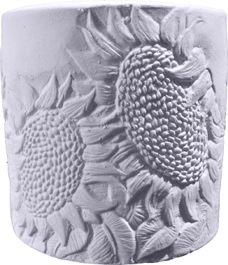 Sunflower Plaster Pencil Holder