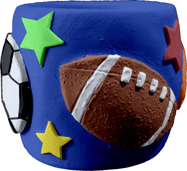 All Sports Plaster Pencil Holder