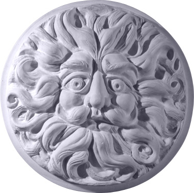 Round Wind Man Face Plaster Plaque