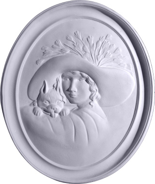 Gibson Girl Cameo B Plaster Plaque