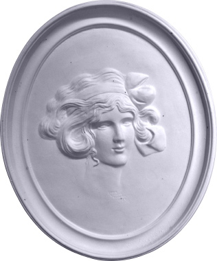 Gibson Girl Cameo C Plaster Plaque
