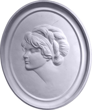 Gibson Girl Cameo D Plaster Plaque