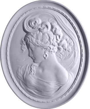 Cameo Ladies B Plaster Plaque
