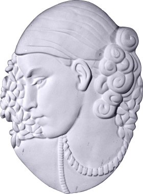 Beautiful Lady Bust Plaster Plaque