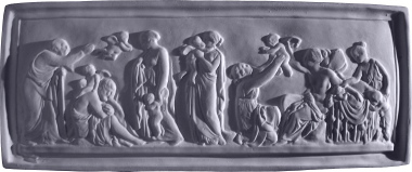 Mask Frieze Plaster Plaque