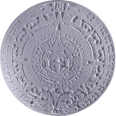 Aztec Calendar a Plaster Plaque