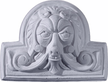 Lion Face Plaster Plaque