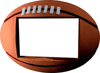 Football Plaster Picture Frame