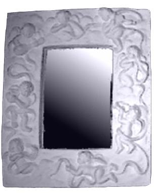 Eight Cherub Plaster Mirror
