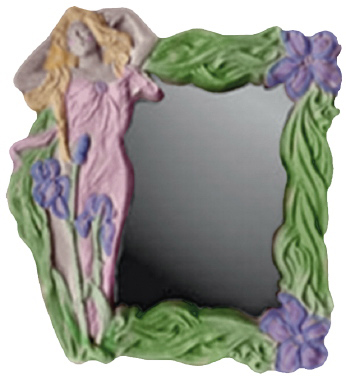 Deco Girl Plaster Mirror