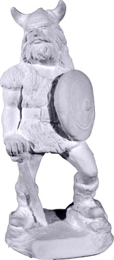 Viking Plaster Statue Small