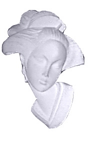 Geisha Girl Plaster Plaque