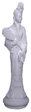 Oriental Figure Plaster Statue female