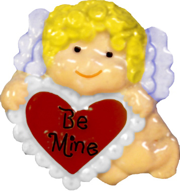 Cupid Be Mine Plaster Jewelry Pin