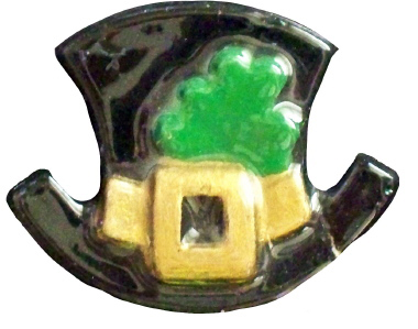 Leprechaun Hat Plaster Jewelry Pin