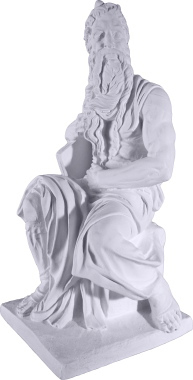 Moses Plaster Statue