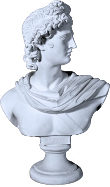 Apollo Bust Plaster Statue