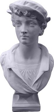 Christopher Plaster Statue