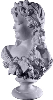 Laughing Girl Plaster Statue